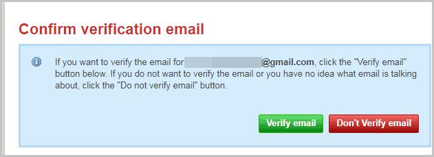 Hostinger verify email
