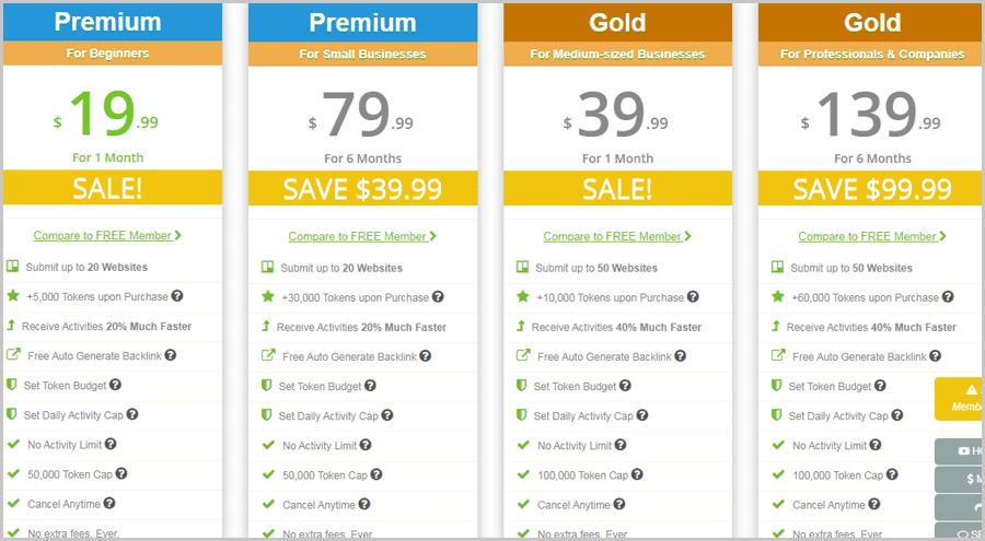 LinkCollder pricing plans