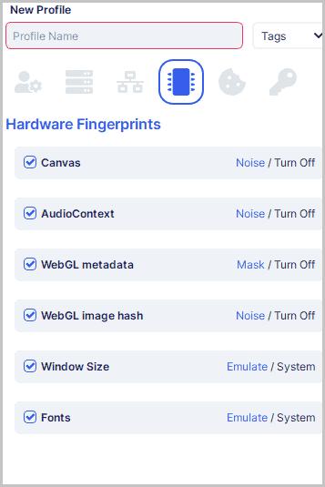 Undetectable.io hardware fingerprinting