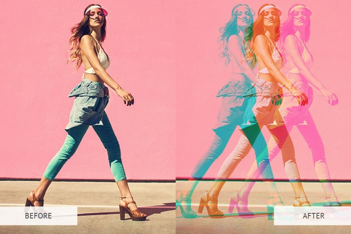 Color Double Exposure Instagram Photoshop Actions